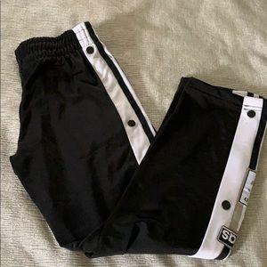 Adidas Originals Boys Snap Pants, Sz 7/8